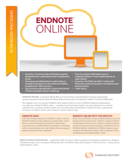 EndNote online - Web of Science