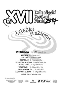 Program - Dolnośląski Festiwal Nauki