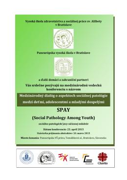 (Social Pathology Among Youth) - Vysoká škola zdravotníctva a