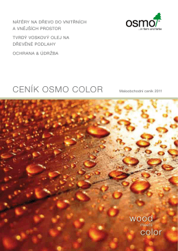 Ceník OSMO COLOR - AU-MEX