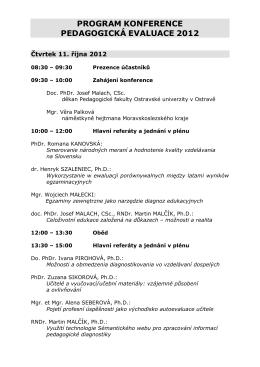 Program konference ke stažení