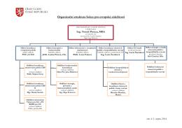 Organizační schema Sekce pro evropské záležitosti Úřadu vlády ČR