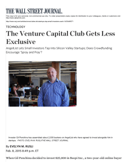 The Venture Capital Club Gets Less Exclusive