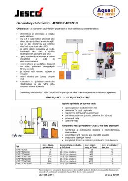 Generátory chlórdioxidu JESCO
