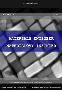 Ročník III., 2010 - Materiálový inžinier