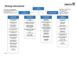 Zoznámte sa s organizačnou štruktúrou koncernu Sweco.
