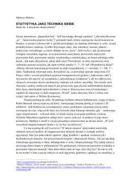 Statystyka jako technika siebie [PDF]