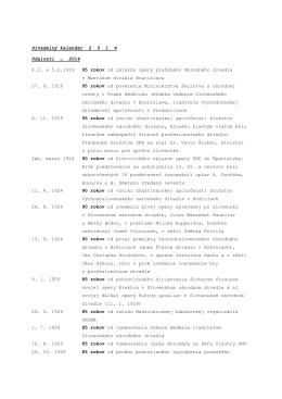 Divadelný kalendár 2 0 1 4 Udalosti 2014 4.2. a