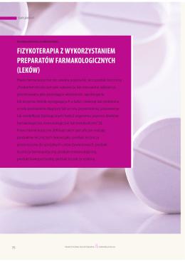 fizykoterapia z wykorzystaniem preparatów farmakologicznych leków