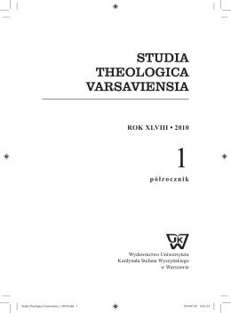 1/2010 - Wydział Teologiczny UKSW w Warszawie