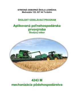mechanizácia pôdohospodárstva