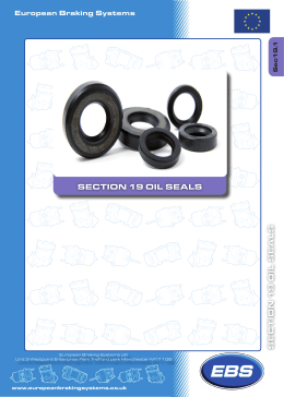 section 19 oil seals section 19 oil seals