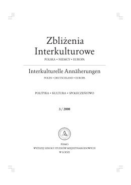 zeszyt nr 03/2008 - Zbliżenia Interkulturowe