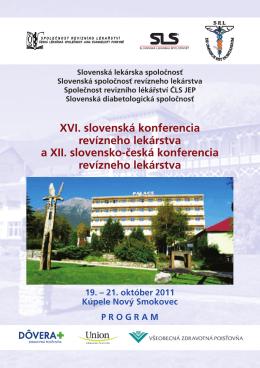 XVI. slovenská konferencia revízneho lekárstva a XII. slovensko