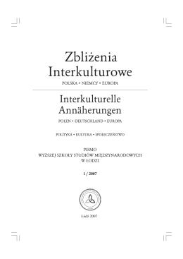 zeszyt nr 01/2007 - Zbliżenia Interkulturowe