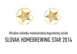 Oficiálne výsledky medzinárodnej degustačnej súťaže