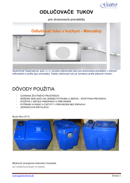Odlučovače tukov pre kuchyne - manuálne.pdf