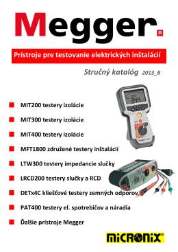Prístroje pre testovanie elektrických inštalácií Stručný katalóg 2013_B
