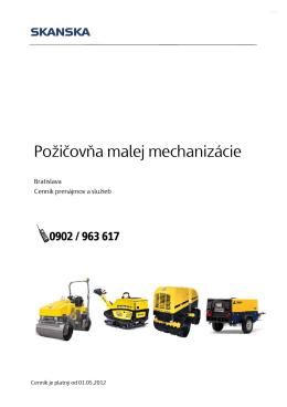 Požičovňa malej mechanizácie