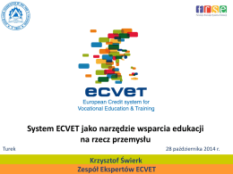 5. Krzysztof Świerk - Zespół Ekspertów ECVET Polska