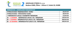 MOZOLANI FITNESS 2, s.r.o. Budova OSBD, Žilina