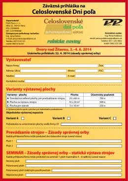 CDP_2014_Prihláška technika