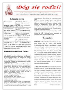 Gazetka parafialna 52/2014