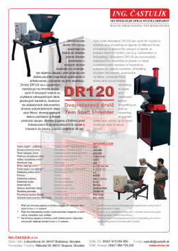 Dvojrotorové drviče radu DR120