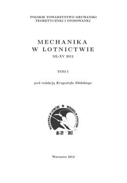 MECHANIKA W LOTNICTWIE - Polskie Towarzystwo Mechaniki