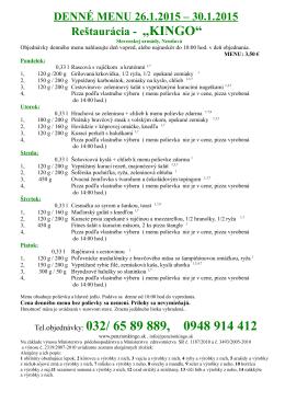 denné menu - penzionkingo.sk