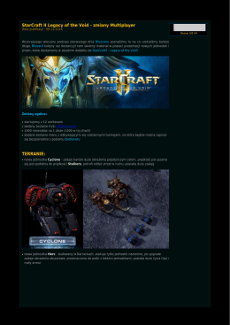 StarCraft II Legacy of the Void - zmiany Multiplayer