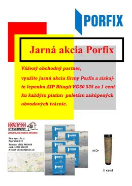 Jarná akcia Porfix