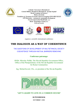 THE DIALOGUE AS A WAY OF COEXISTENCE