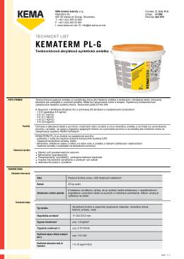 KEMATERM PL-G