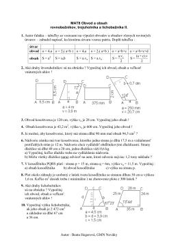 MAT8 Obsah rovnobežníka,trojuholnika, lichobeznika II