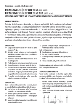 HEMOGLOBÍN / FOB test