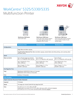 Xerox WorkCentre 7120 Detailed Specifications