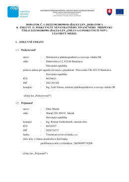 DODATOK Č. 1/ DZ221301200390101 (ĎALEJ LEN