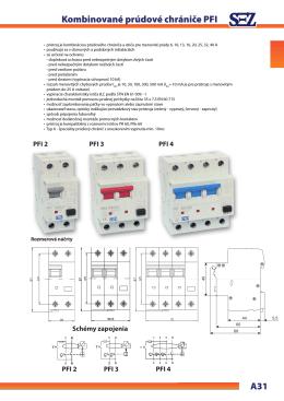 Kombinované prúdové chrániče PFI - SEZ