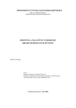 MINISTERSTVO VNÚTRA SLOVENSKEJ