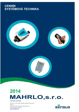 Cenník Systémový technika - platný od 1.4.2014