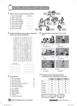 Unit 1 Reinforcement worksheet