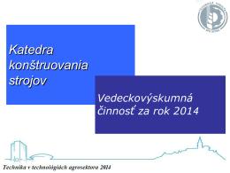 Informácia o VVČ – KKS TF SPU