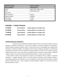 Etická výchova, 5. - 9. ročník (PDF, 309 kb)