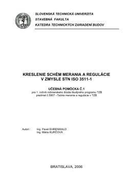 kreslenie schém merania a regulácie v zmysle stn iso 3511-1