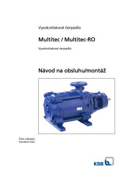 Multitec / Multitec-RO Návod na obsluhu/montáž