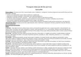 Wymagania edukacyjne w Gimnazjum w Grzegorzewie ( klasa I )