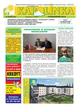 Październik 2014 - Spółdzielnia Mieszkaniowa im. 23 Lutego