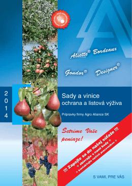 Sady a vinice - Agro Aliance sro