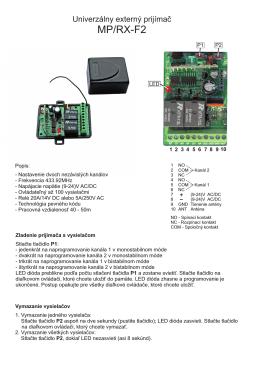 MP/RX-F2 - Umakov.cz